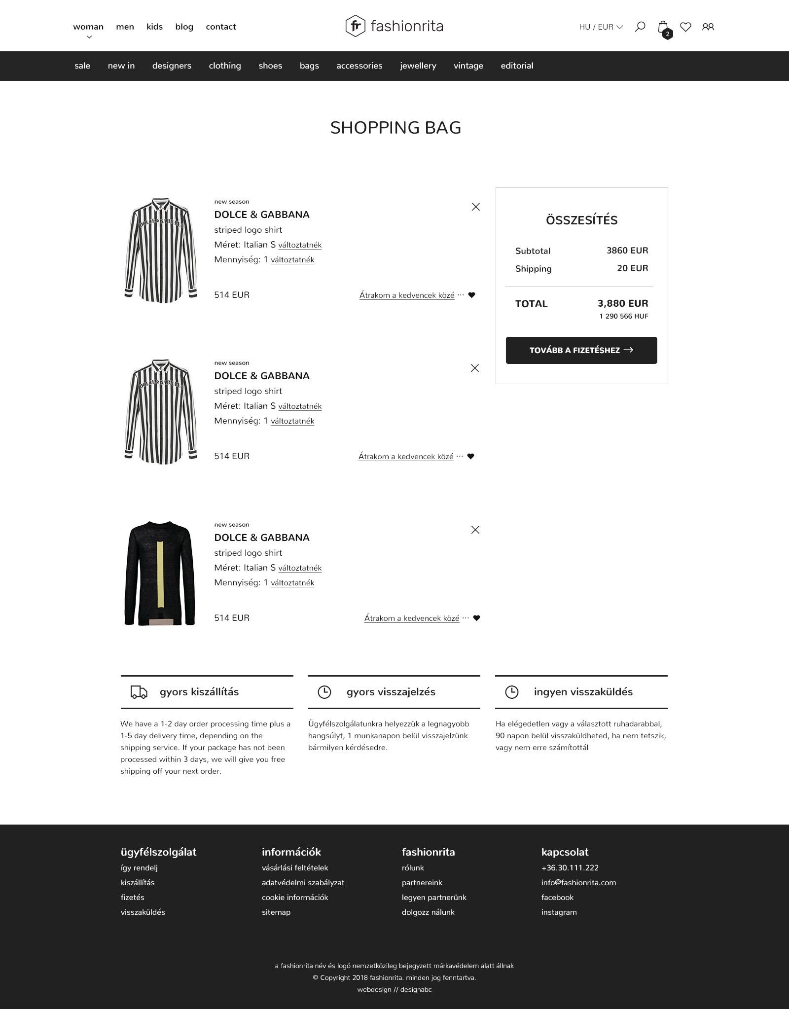 webshop tervezés képernyő
