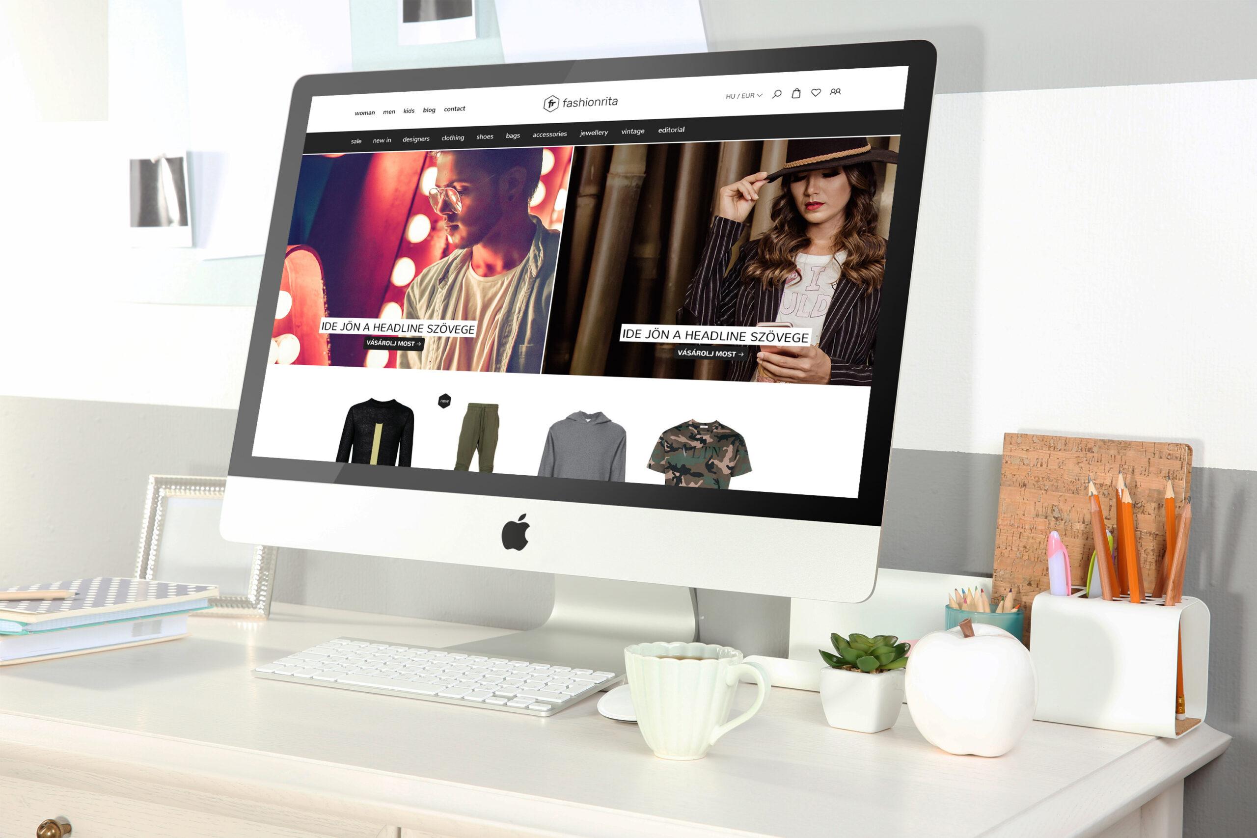 webshop tervezés - fashionrita - responsive