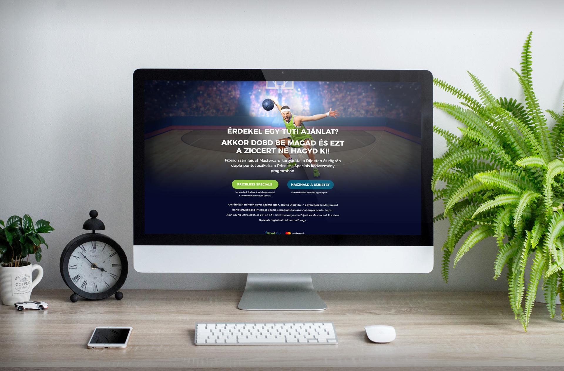 weboldal újratervezés - díjnet főoldal